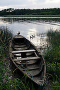 River boat or cot on the river Slaney, Wexford, Ireland