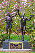"Johnny Kelley statue ""Young at Heart"" on the Boston Marathon course, Newton, Massachusetts"