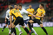 Fernando Llorente of Tottenham Hotspur fights his way through the Newport County defence during the The FA Cup fourth round replay match between Tottenham Hotspur and Newport County at Wembley Stadium, London, England on 6 February 2018. Picture by Toyin Oshodi.
