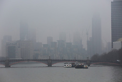 © Licensed to London News Pictures. 22/01/2020. London, UK. View of buildings and Lambeth Bridge covered in fog. Photo credit: Dinendra Haria/LNP