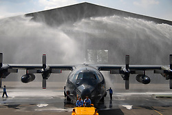 July 31, 2017 - Malang, Indonesia - Indonesian Air Force officials clean a military airplane to prepare for the Indonesian Independence Day in Malang, Indonesia. Indonesia will celebrate the Independence Day on August 17. (Credit Image: © Aditya Hendra/Xinhua via ZUMA Wire)