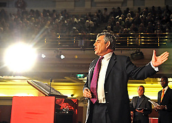 Gordon Brown addresses the Citizens UK General Election Assembly.
