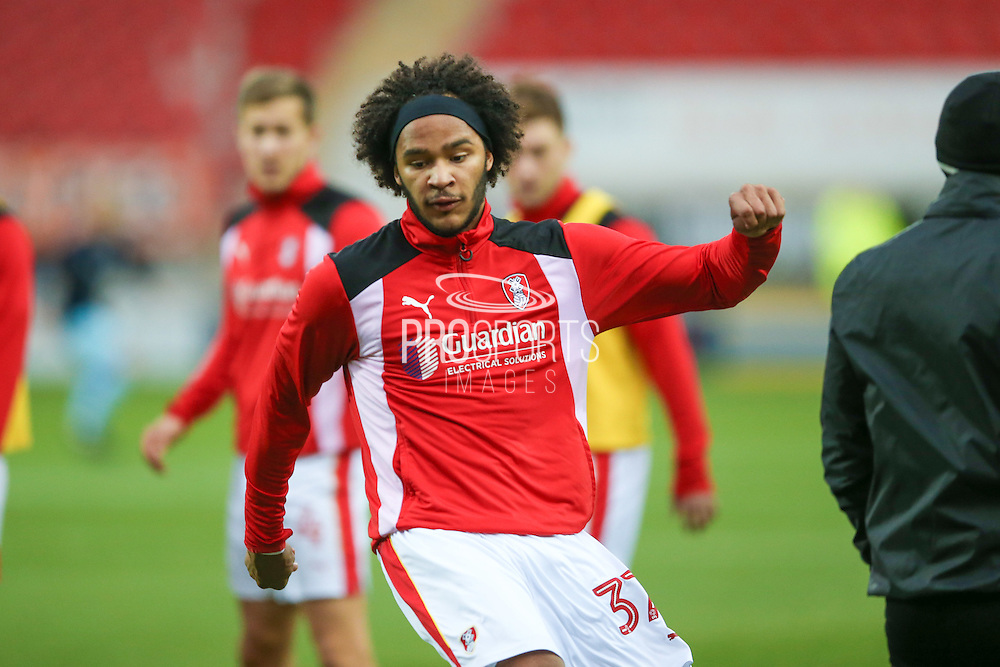 Rotherham United forward, on loan from Chelsea, Isaiah Izzy Brown (37) warms up during the EFL Sky Bet Championship match between Rotherham United and Queens Park Rangers at the New York Stadium, Rotherham, England on 10 December 2016. Photo by Simon Davies.