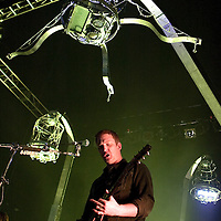 Queens of the Stone Age play live at the Carling Academy..Josh Homme