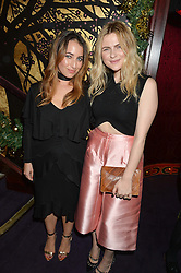 Left to right,  HANNAH ALMASSI and AMY LAWRENSON at the UK launch of WhoWhatWear UK held at Loulou's, Hertford Street, London on 24th November 2015.