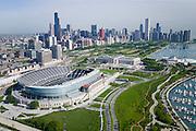 Soldier Field Stadium in Grant Park, Chicago, IL