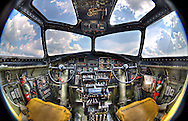 Cockpit of a B-17G, HDR