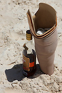 Rum in the shade of a peg-leg on the beach in Guadalavaca, Holguin, Cuba.