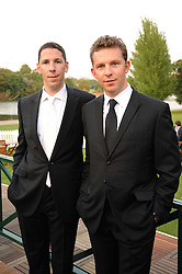 Left to right, property developer brothers CHRISTIAN CANDY and NICK CANDY at the Royal Parks Foundation Summer Party hosted by Candy & Candy on the banks of the Serpentine, Hyde Park, London on 10th September 2008.