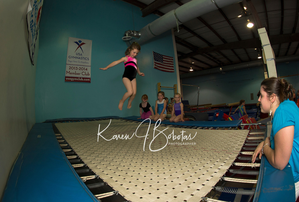 Lakes Region Gymnastics open house event Friday, June 21, 2013.  Karen Bobotas/for the Laconia Daily Sun