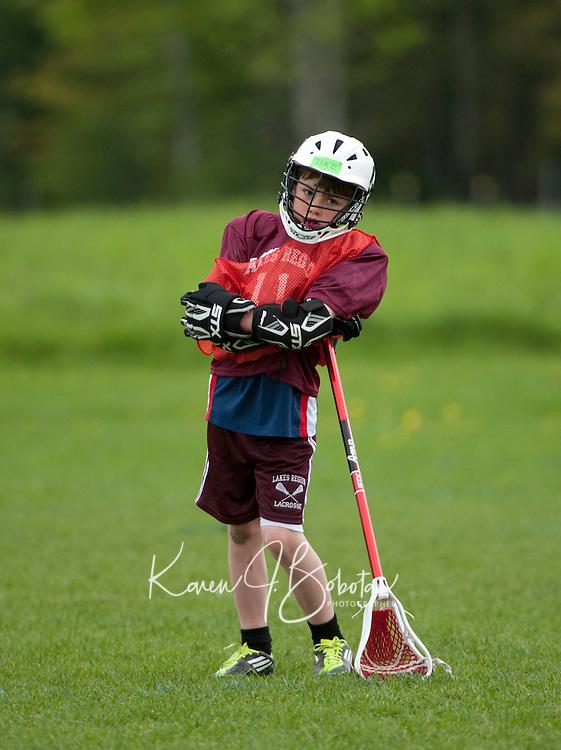 U11 boys scrimmage Lakes Region Lacrosse May 22, 2011