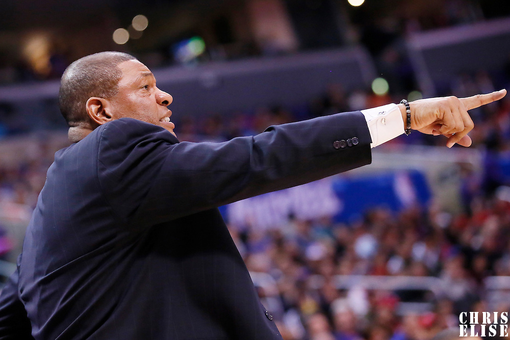 23 November 2013: Los Angeles Clippers head coach Doc Rivers is seen during the Los Angeles Clippers 103-102 victory over the Sacramento Kings at the Staples Center, Los Angeles, California, USA.