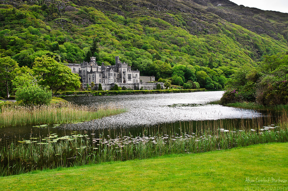 The magnificent Kylemore Abbey in the Connemara region of Galway in Ireland is open to the public although it is still home to Benedictine Nuns who fled Belgium in World War I.