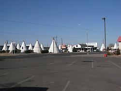 Wigwam Motel Holbrook AZ morning of 24 March 2008.