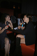 Katie Reynolds and Kate Spicer. One Fo(u)r Party hosted by Nicolas Feullatte champage at Mivida, 8-9 Argyll Street. London.   October 11 2005. ONE TIME USE ONLY - DO NOT ARCHIVE © Copyright Photograph by Dafydd Jones 66 Stockwell Park Rd. London SW9 0DA Tel 020 7733 0108 www.dafjones.com