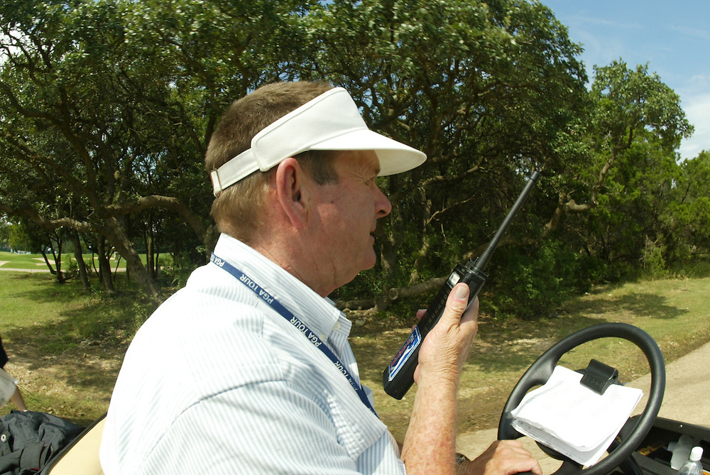 George Boutell, PGA Tour rules official..2003 Valero Texas Open..Westin La Cantera Resort..San Antonio, TX..Friday, September 26 2003..photograph by Darren Carroll