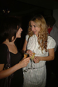 Celestine Laporte and Susannah Wise, Ruth Everett and Charlotte Randle, First night party after the opening of Rabbit by Nina Raine at the Old Red Lion Theatre, Islington. Groucho Club. 18 June 2006. ONE TIME USE ONLY - DO NOT ARCHIVE  © Copyright Photograph by Dafydd Jones 66 Stockwell Park Rd. London SW9 0DA Tel 020 7733 0108 www.dafjones.com