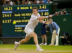 LONDON, ENGLAND - Monday, June 29, 2009: Andy Murray (GBR) .during the Gentlemen's Singles 4th Round match on day seven of the Wimbledon Lawn Tennis Championships at the All England Lawn Tennis and Croquet Club. (Pic by David Rawcliffe/Propaganda)