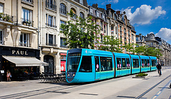 A tram in the Ruse de Vesle, Reims, France<br /> <br /> (c) Andrew Wilson | Edinburgh Elite media