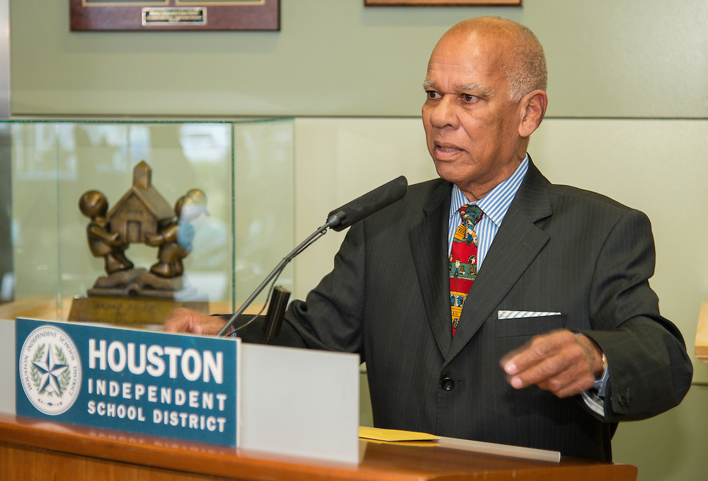 Retirement reception for Houston ISD Board of Education trustee Larry Marshall, December 12, 2013.