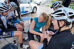 Pre-race fun in the Hitec Products camp - Tour of Chongming Island 2016 - Stage 3. A 99 km road race on Chongming Island, China on May 8th 2016.