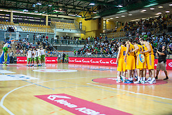 Friendly basketball match between National teams of Slovenia and Ukraine at day 1 of Adecco Cup 2015, on August 21 in Koper, Slovenia. Photo by Grega Valancic / Sportida