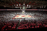 FAYETTEVILLE, AR - NOVEMBER 30:  Bud Walton Arena during a game between the Arkansas Razorbacks and the Syracuse Orangemen where the fans were asked to wear white for the game on November 30, 2012 in Fayetteville, Arkansas.  The Orangemen defeated the Razorbacks 91-82.  (Photo by Wesley Hitt/Getty Images) *** Local Caption ***