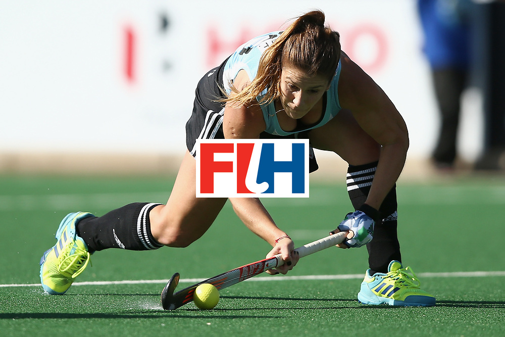 JOHANNESBURG, SOUTH AFRICA - JULY 18: Julia Gomes of Argentina scores a goal during the Quarter Final match between Argentina and Ireland during the FIH Hockey World League - Women's Semi Finals on July 18, 2017 in Johannesburg, South Africa.  (Photo by Jan Kruger/Getty Images for FIH)