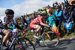 Amalie Dideriksen (DEN) on the Lofthouse climb at UCI Road World Championships 2019 Women's Elite Road Race a 149.4 km road race from Bradford to Harrogate, United Kingdom on September 28, 2019. Photo by Sean Robinson/velofocus.com