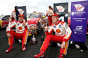 Scott McLaughlin (Shell DJR Penske Ford) with 2nd place finisher Fabian Coulthard. Winton Truck Assist SuperSprint -2019 Virgin Australia Supercars Championship Round 6. Winton Motor Raceway, Victoria on Sunday 26 May 2019. Photo Clay Cross / photosport.nz