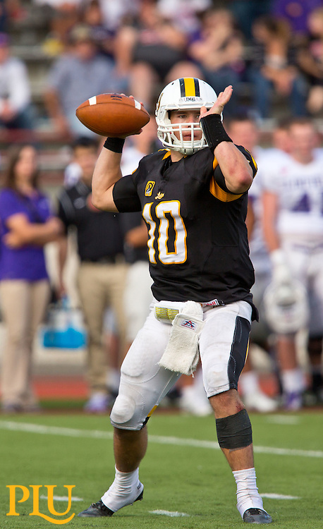 PLU Homecoming football game against Linfield at Sparks Stadium i Puyallup on Saturday, Oct. 4, 2014. (Photo/John Froschauer)