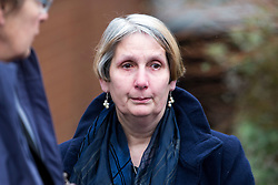 © Licensed to London News Pictures. 02/03/2016. Ampthill, UK. ALISON JOHNSON leaves a pre-inquest review into the death of her son, Conservative party activist Elliott Johnson in Ampthill, Bedfordshire. Mr Johnson was found dead on a railway line in Bedfordshire a few weeks after he raised concerns about the way he had been treated in the Conservative youth wing. Photo credit: Peter Macdiarmid/LNP