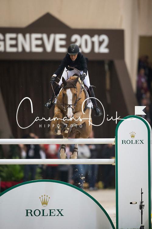 Sprunger Janika (SUI) - Palloubet D' Halong<br /> Rolex FEI World Cup qualifier<br /> CSI-W Geneve 2012<br /> &copy; Dirk Caremans