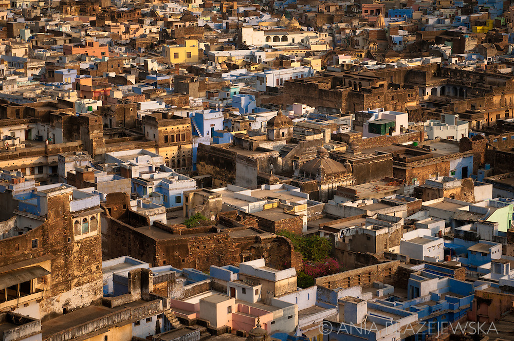 India, Bundi. A panoramic view of bundi, one of the most beautiful Rajasthani town with outstanding architecture.