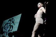 NYC-based Semi Precious Weapons photographed on January 7, 2010 supporting Lady Gaga at the Fox Theater in St. Louis.