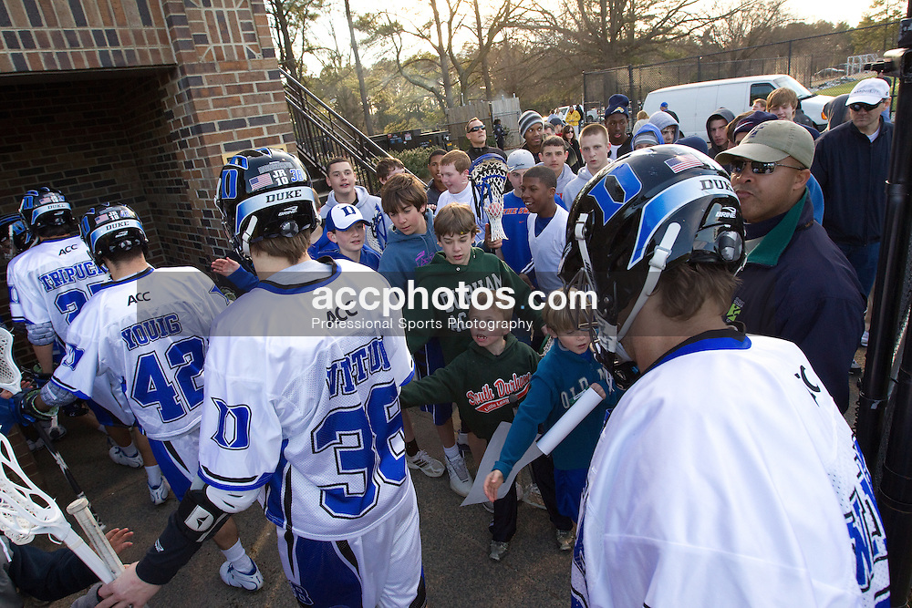 27 February 2010: Duke Blue Devils men's lacrosse in a 16-11  win over the Pennsylvania Quakers  at Koskinen Stadium in Durham, NC