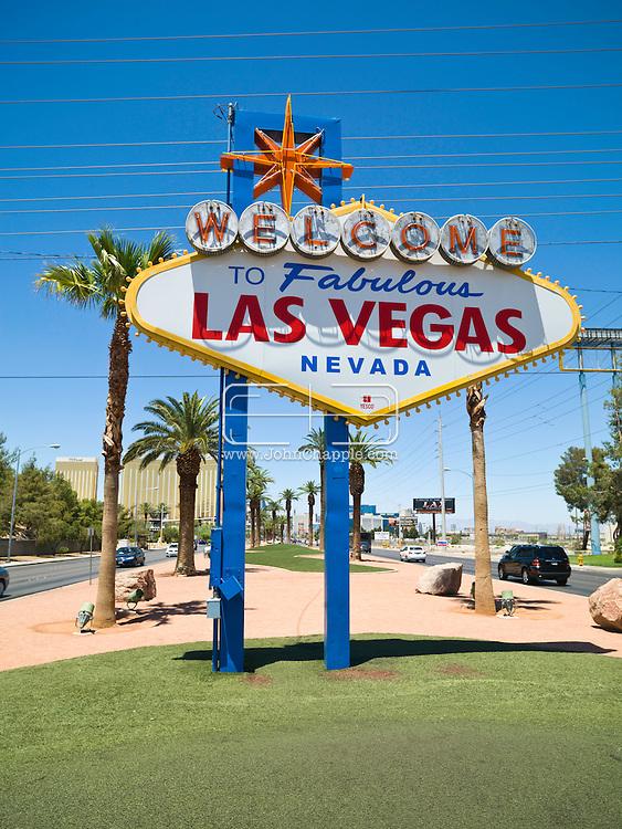 5th June 2010. Las Vegas, Nevada. The Las Vegas sign. PHOTO © JOHN CHAPPLE / www.chapple.biz.john@chapple.biz  (001) 310 570 9100.
