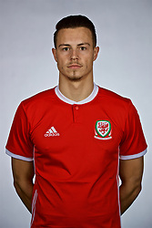 NANNING, CHINA - Saturday, March 24, 2018: Wales' Connor Roberts during a squad photo shoot at the Wanda Realm Hotel on day five of the 2018 Gree China Cup International Football Championship. (Pic by David Rawcliffe/Propaganda)