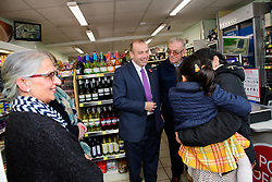 Pictured is Chris Heaton-Harris MP, centre, during the event to open Harpole Post Office<br /> <br /> Chris Heaton-Harris MP has officially opened the new Harpole Post Office at Harpole Village Store in High Street, Harpole, Northampton.<br /> <br /> Date: November 10, 2017