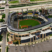 U.S. Cellular Field aerial high resolution picture. U.S. Cellular Field (Comiskey Park) is a baseball stadium in Chicago and is home to the Chicago White Sox Major League Baseball team. Photo was taken in 2013 from a helicopter and is available as an electronic editorial stock photo, print or product.