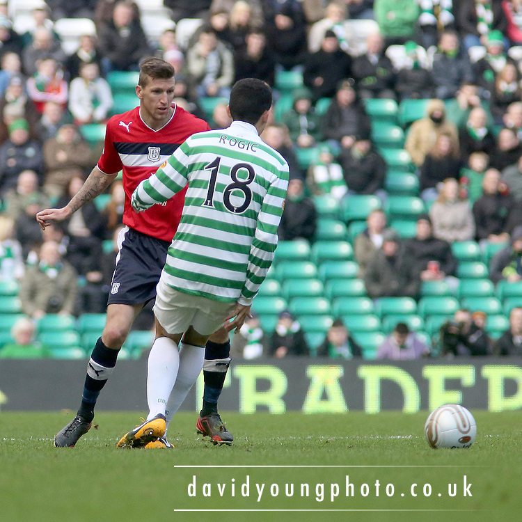Iain Davidson and Tomas Rogi?  - Celtic v Dundee,  at Celtic Park in the Clydesdale Bank Scottish Premier League.. - © David Young - www.davidyoungphoto.co.uk - email: davidyoungphoto@gmail.com