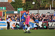 AFC Wimbledon defender Paul Robinson (6) battles for possession during the EFL Sky Bet League 1 match between AFC Wimbledon and Southend United at the Cherry Red Records Stadium, Kingston, England on 25 March 2017. Photo by Matthew Redman.