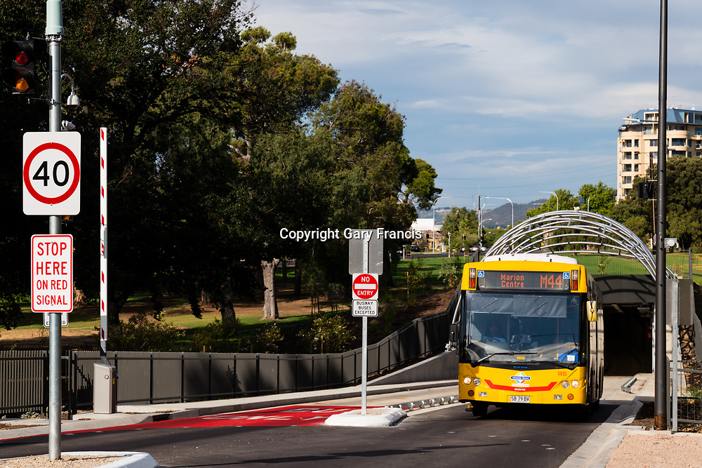 O-Bahn City Access Project construction by MacDow, Adelaide, Australia - images taken in Jan 18