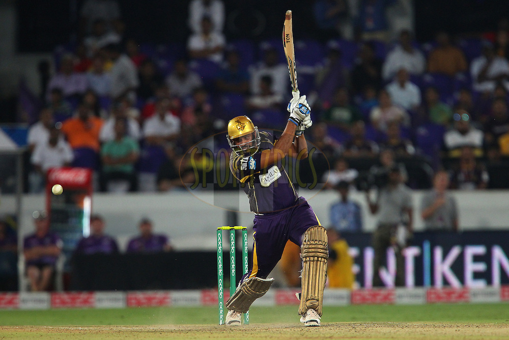 Yusuf PATHAN     of the Kolkata Knight Riders  during the first semi final match of the Oppo Champions League Twenty20 between the Kolkata Knight Riders and the Hobart Hurricanes held at the Rajiv Gandhi Cricket Stadium, Hyderabad, India on the 2nd October 2014<br /> <br /> Photo by:  Ron Gaunt / Sportzpics/ CLT20<br /> <br /> <br /> Image use is subject to the terms and conditions as laid out by the BCCI/ CLT20.  The terms and conditions can be downloaded here:<br /> <br /> http://sportzpics.photoshelter.com/gallery/CLT20-Image-Terms-and-Conditions-2014/G0000IfNJn535VPU/C0000QhhKadWcjYs