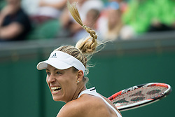 LONDON, ENGLAND - Saturday, July 2, 2016:  Angelique Kerber (GER) and pony tail flying up during the Ladies' Single 3rd Round match on day six of the Wimbledon Lawn Tennis Championships at the All England Lawn Tennis and Croquet Club. (Pic by Kirsten Holst/Propaganda)