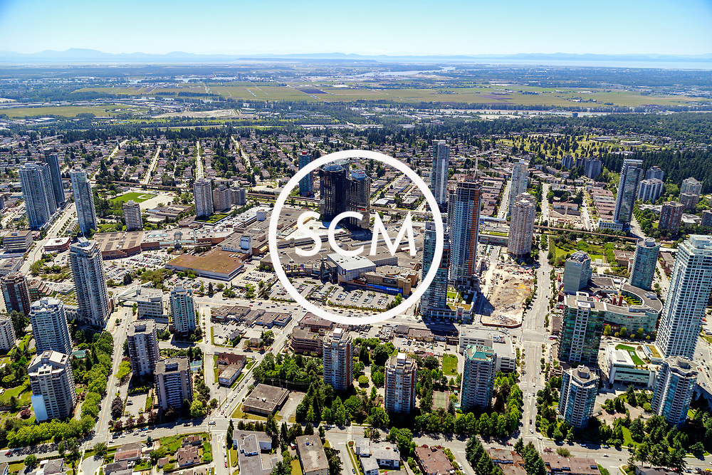 Aerial Photography of MetroTown, Burnaby, BC