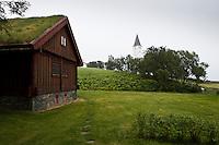 Auðunarstofa at Hólar in Hjaltadalur valley, Skagafjörður, North Iceland. Auðunarstofa eða Timburstofan var reist á Hólum á árunum 1316 til 1317 og stóð í tæp 500 ár eða uns hún var rifin árið 1810. Árið 1995 orðaði Bolli Gústavsson vígslubiskup þá hugmynd í Hólanefnd að láta endurgera Auðunarstofu á Hólum. Tókst með samvinnu íslenskra og norskra aðila að koma því í kring, og var Auðunarstofa hin nýja fullfrágengin sumarið 2002. Húsið er allnákvæm endurgerð stofunnar fornu, að öðru leyti en því að stafverkshlutinn er nokkru stærri, til þess að auka notagildi hússins.