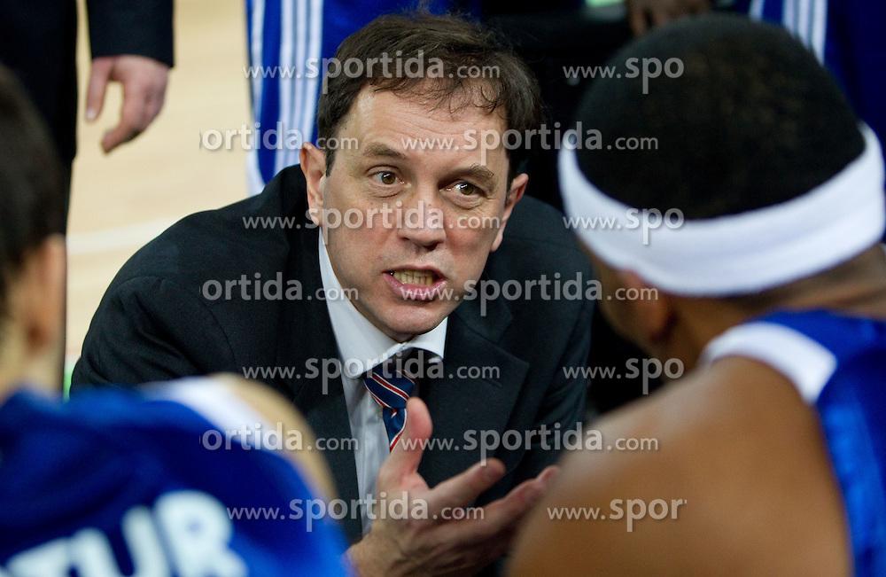 Head coach of Zadar Danijel Jusup during basketball match between KK Union Olimpija and Zadar in 15th round of NLB league in Arena Stozice on January 8, 2010 in SRC Stozice, Ljubljana, Slovenia. Union Olimpija defeated Zadar 78-53. (Photo by Vid Ponikvar / Sportida)