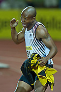 PRETORIA. SOUTH AFRICA: Thursday 5 April 2012, 100m athlete Simon Magakwe (151) during the Yellow Pages Inter-club athletic meeting held at the ABSA-Tuks stadium, Tshwane..Photo by : ImageSA