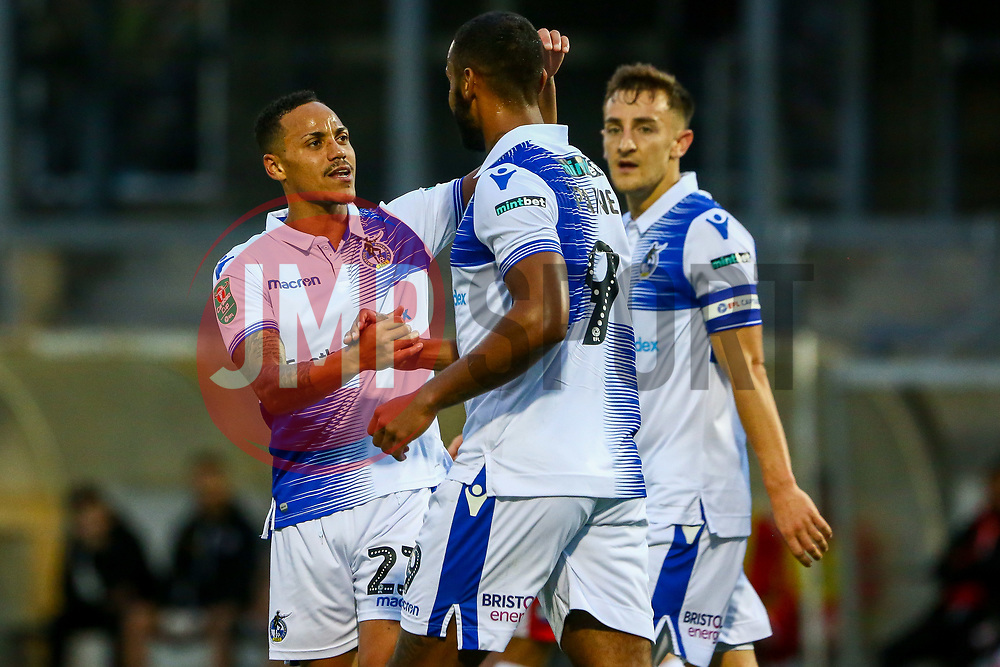 Kyle Bennett of Bristol Rovers celebrates scoring his sides first goal of the game  - Mandatory by-line: Ryan Hiscott/JMP - 14/08/2018 - FOOTBALL - Memorial Stadium - Bristol, England - Bristol Rovers v Crawley Town - Carabao Cup